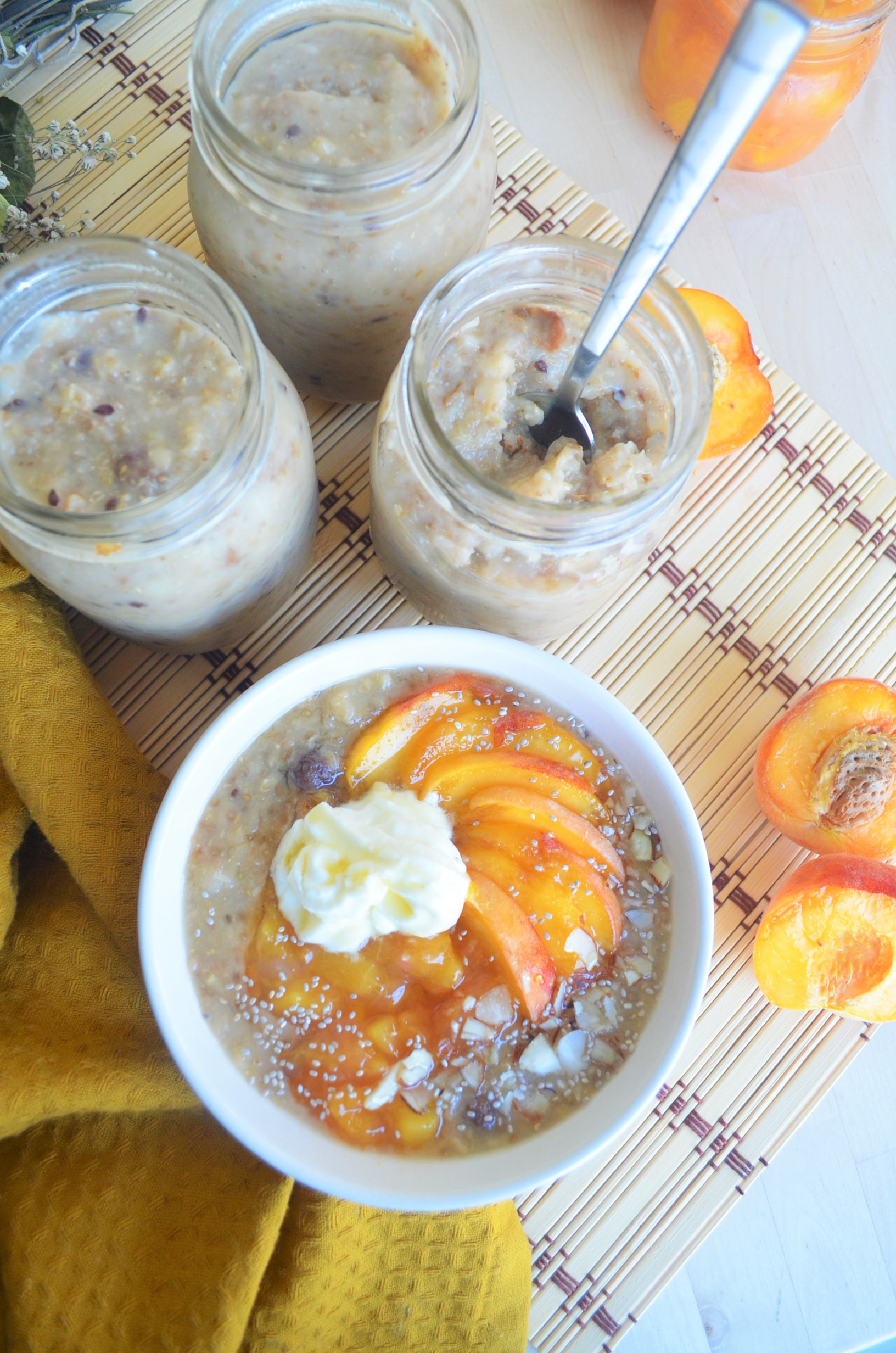 Peaches and Cream Oatmeal For One
