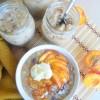 Peaches and Cream Oatmeal ForOne