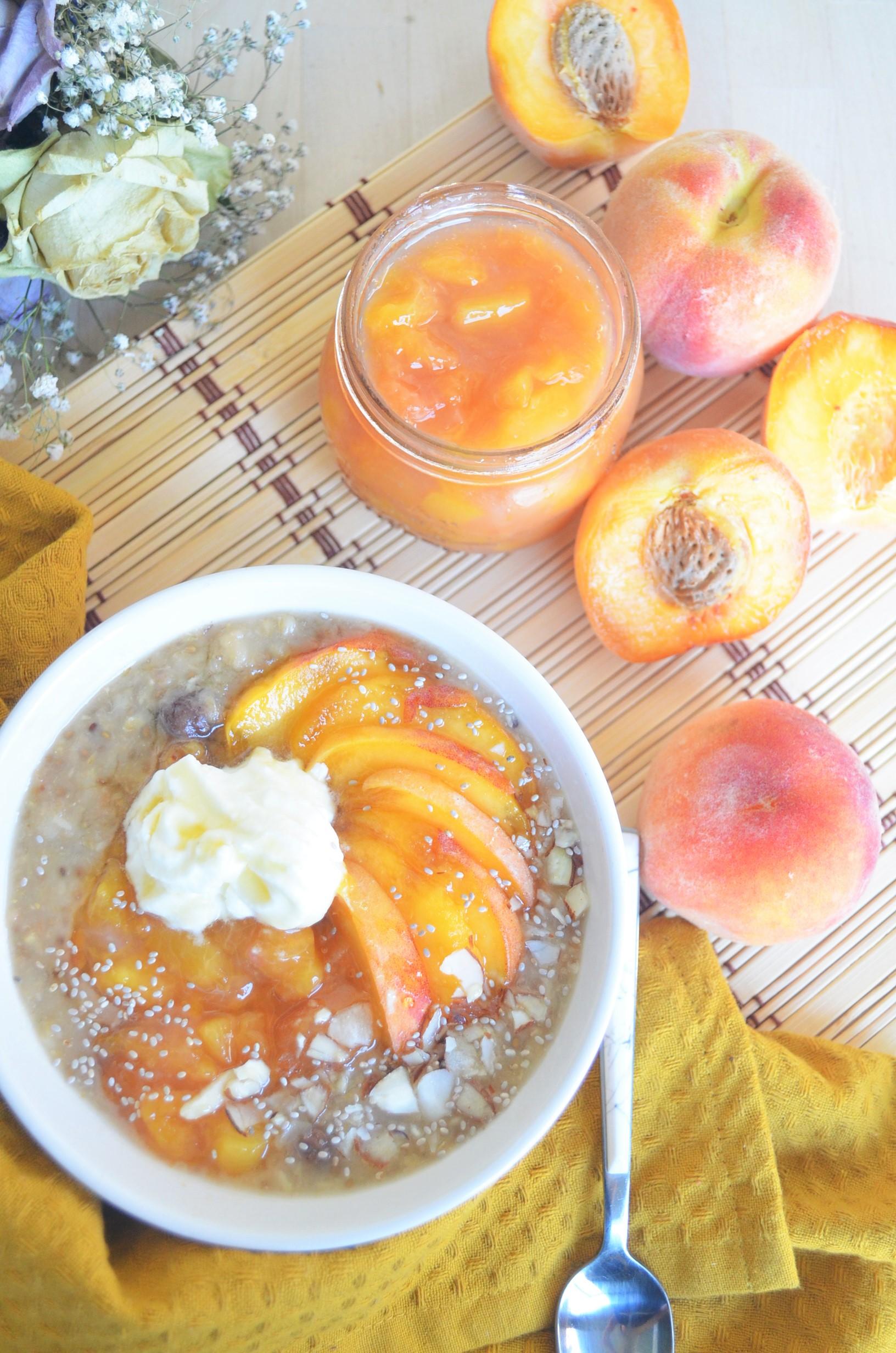 Single Serve Peaches and Cream Peach Oatmeal