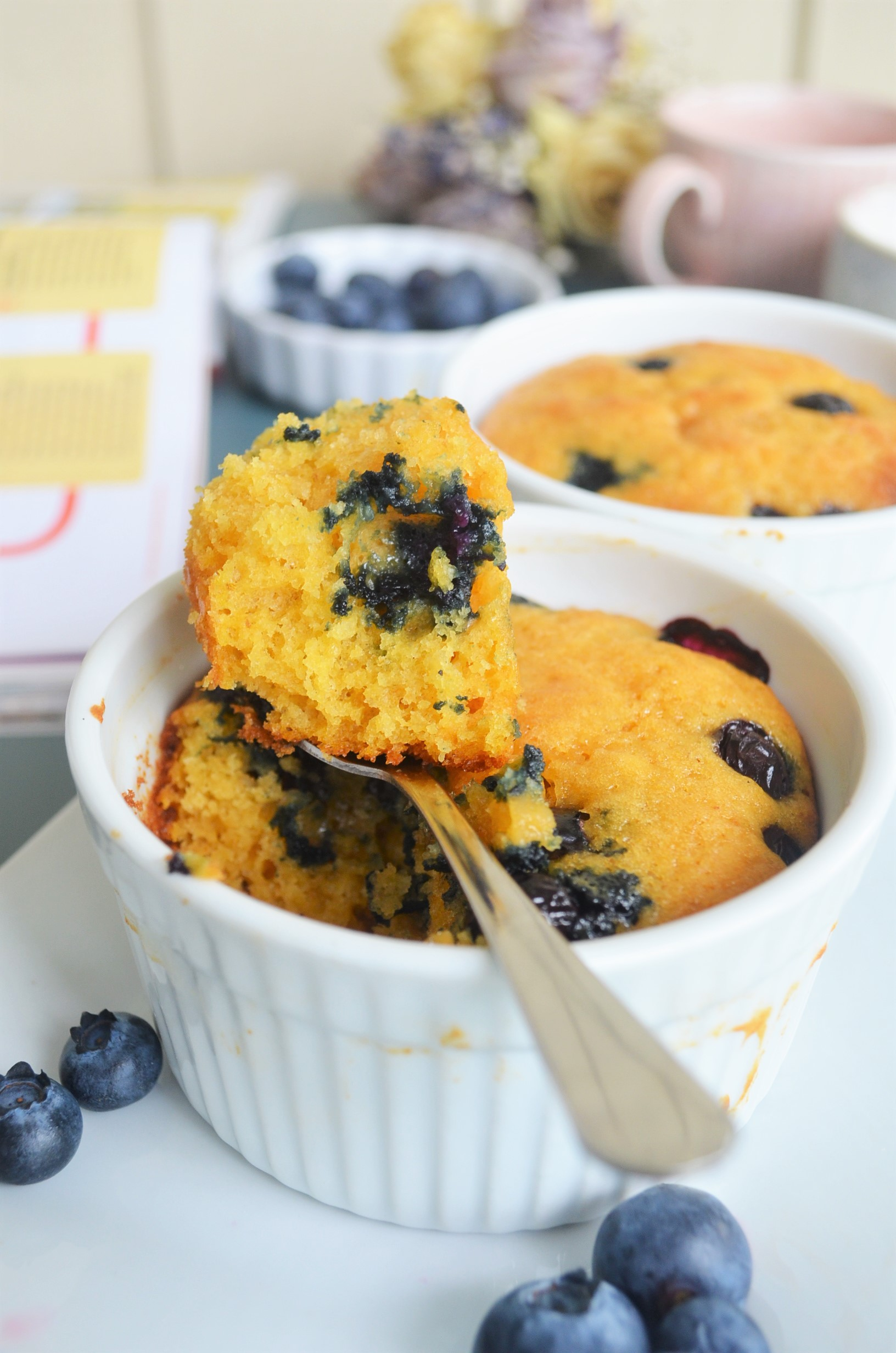 Small Batch Blueberry Pumpkin Muffin in Ramekin