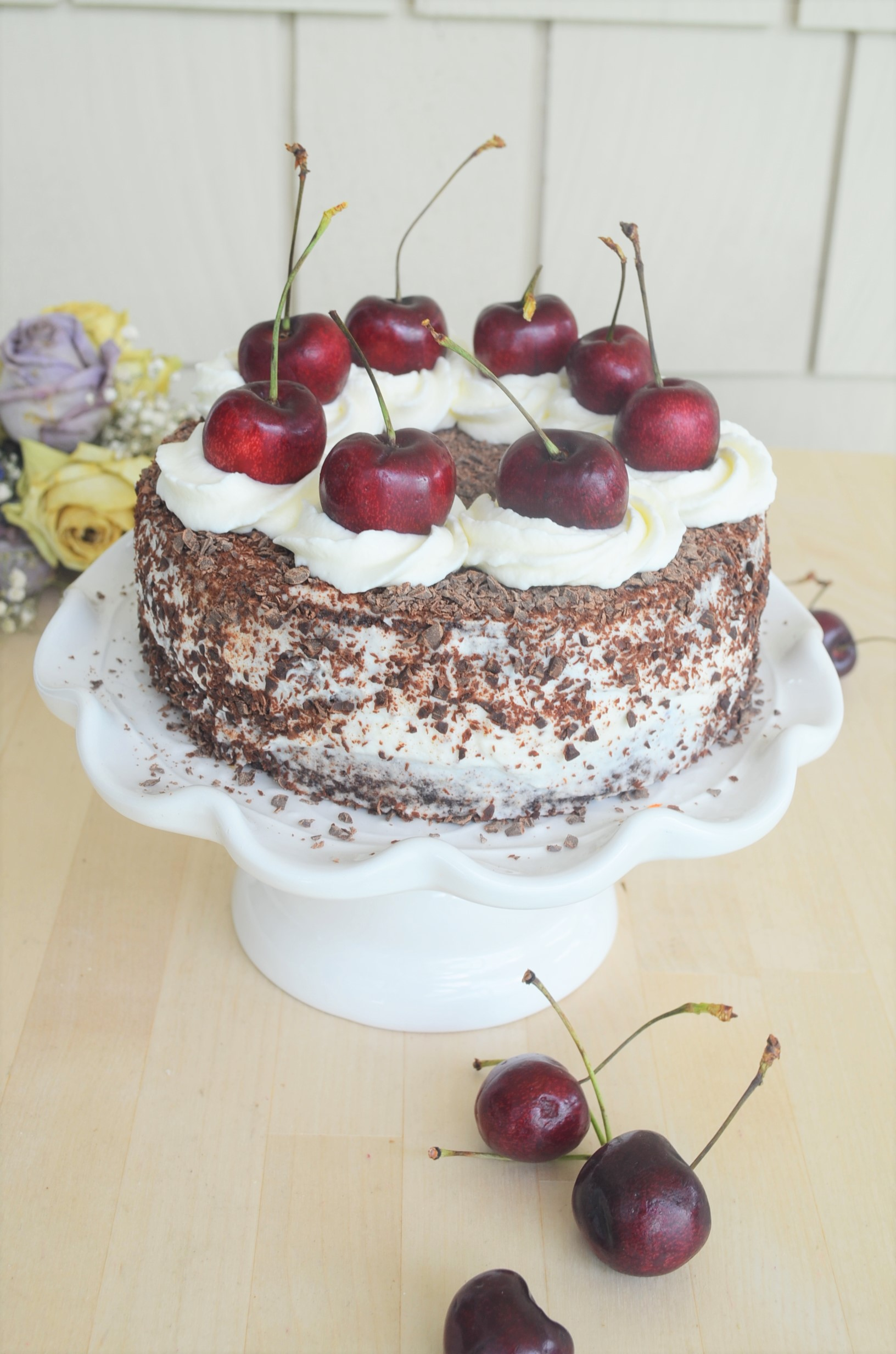 Small Batch Gluten Free Black Forest Cake By SweetNSpicyLiving