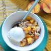 Small Batch Peach and Mango Crisp By SweetNSpicyLiving