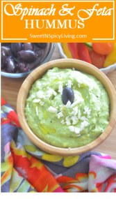 Spinach and Feta Hummus