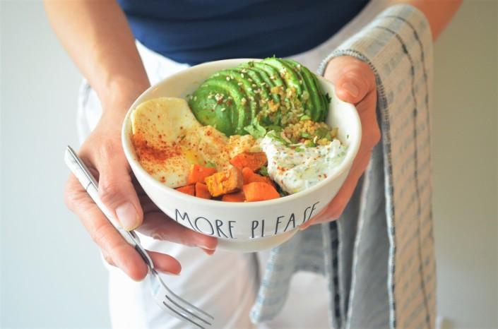 Sweet Potato and Avocado Breakfast Bowl