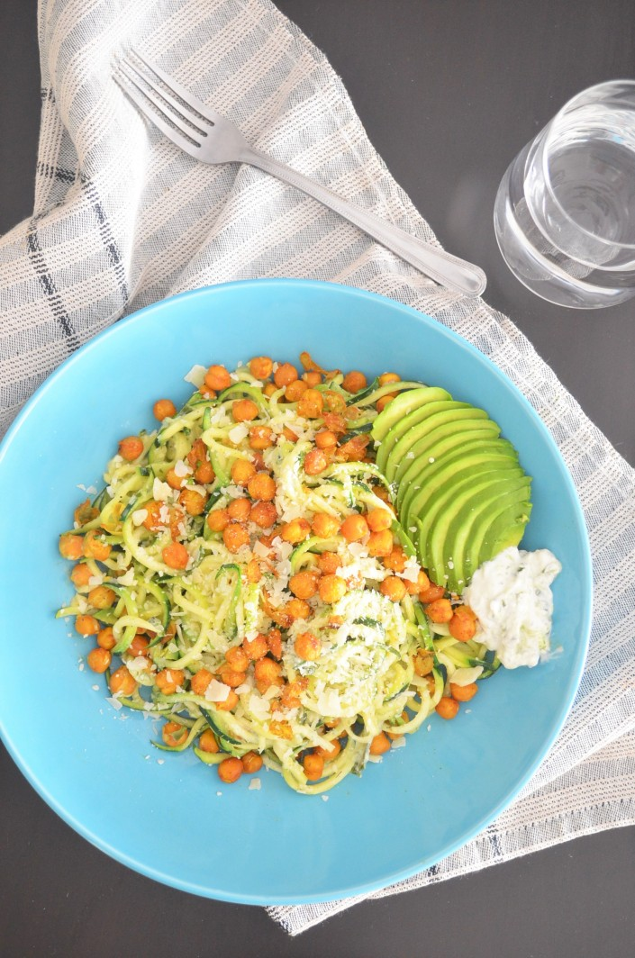 Zucchini and Chickpea Zoodles