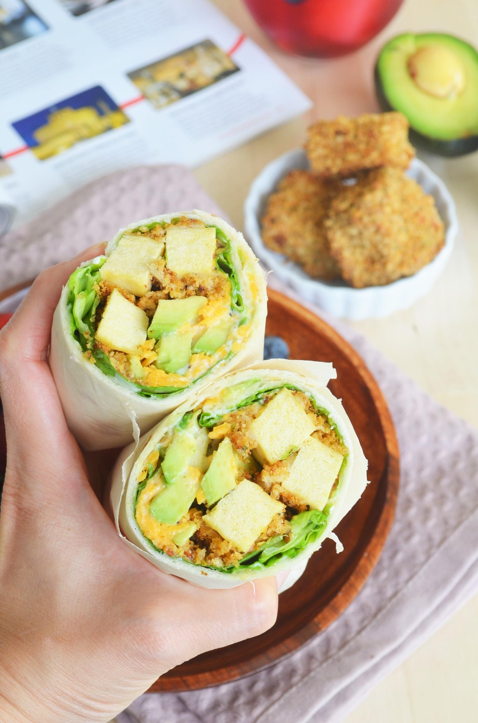 Baked Crusted Tofu Wrap