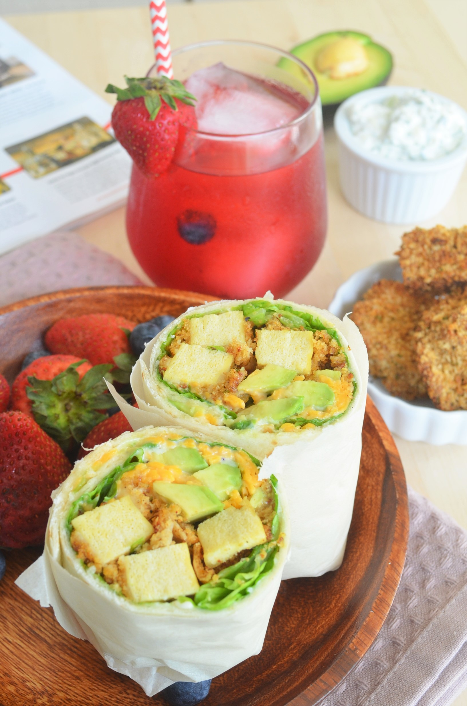Crisp Baked Tofu Wrap For Two