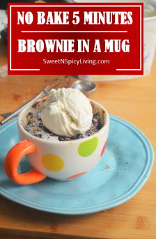No Bake Brownie in a Mug