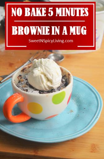 No Bake Brownie in a Mug