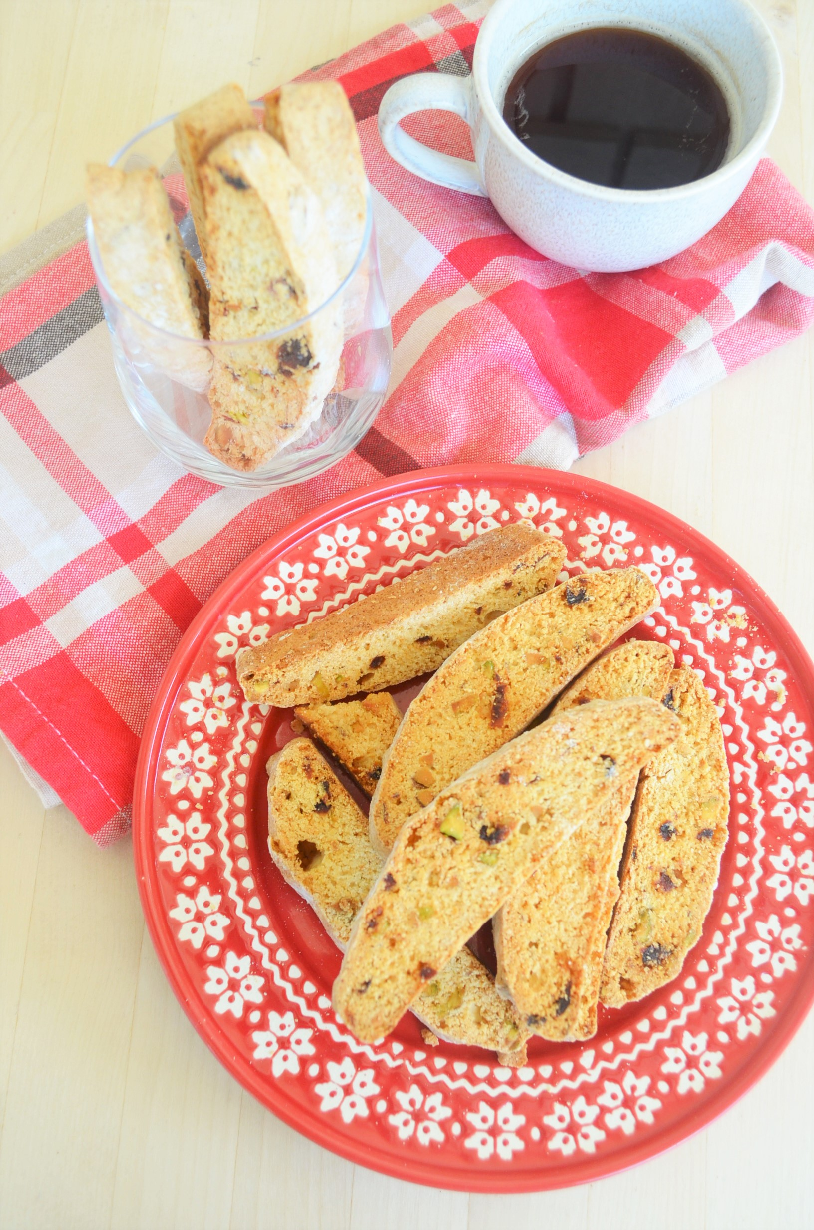 Pistachio and Cranberry Biscotti For Two