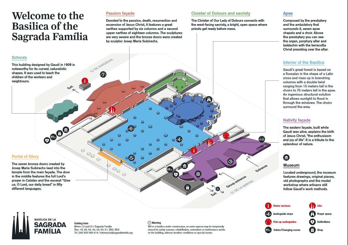 Sagrada Familia Tour Map