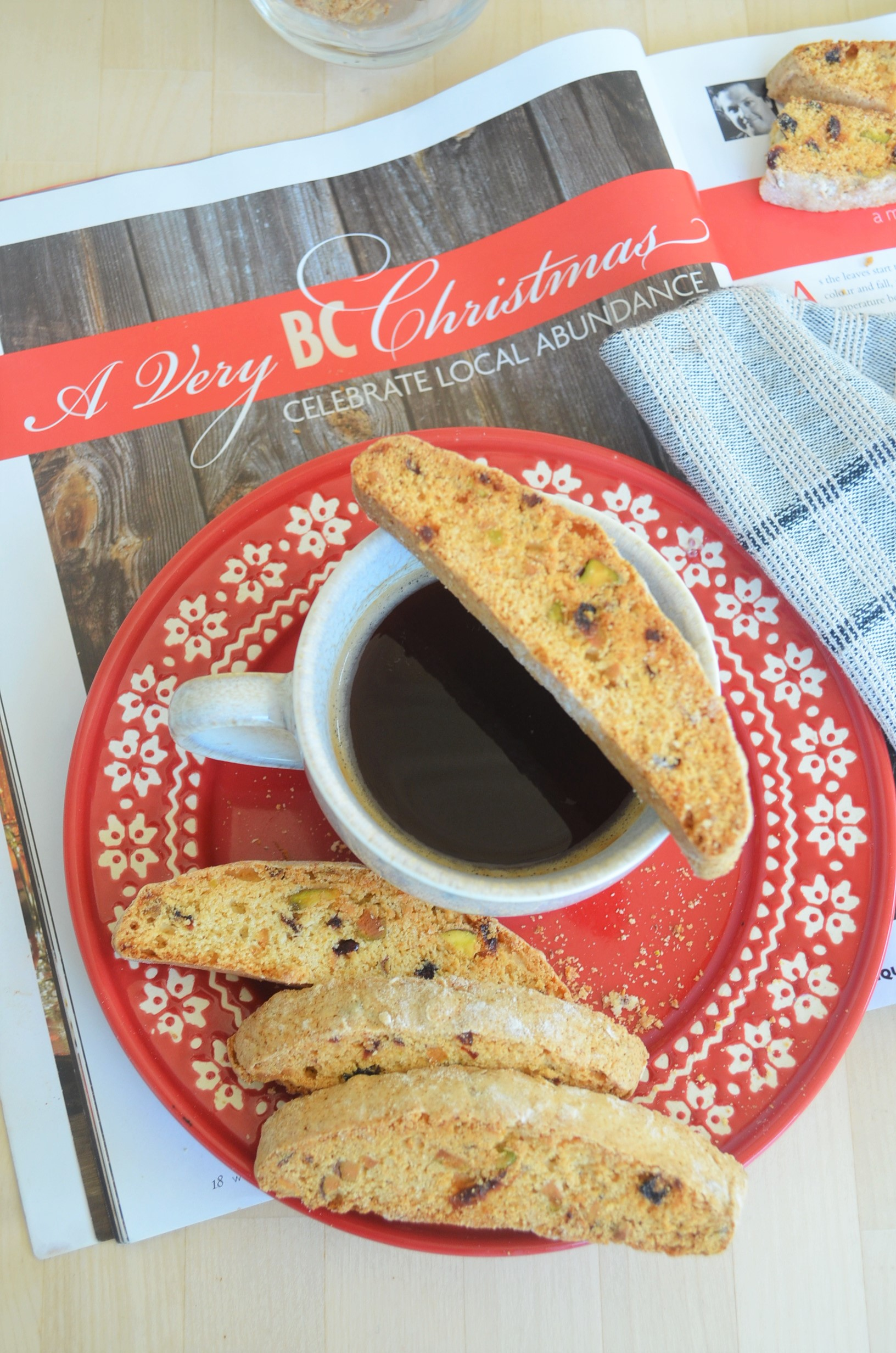 Small Batch Pistachio Almond Cranberry Biscotti