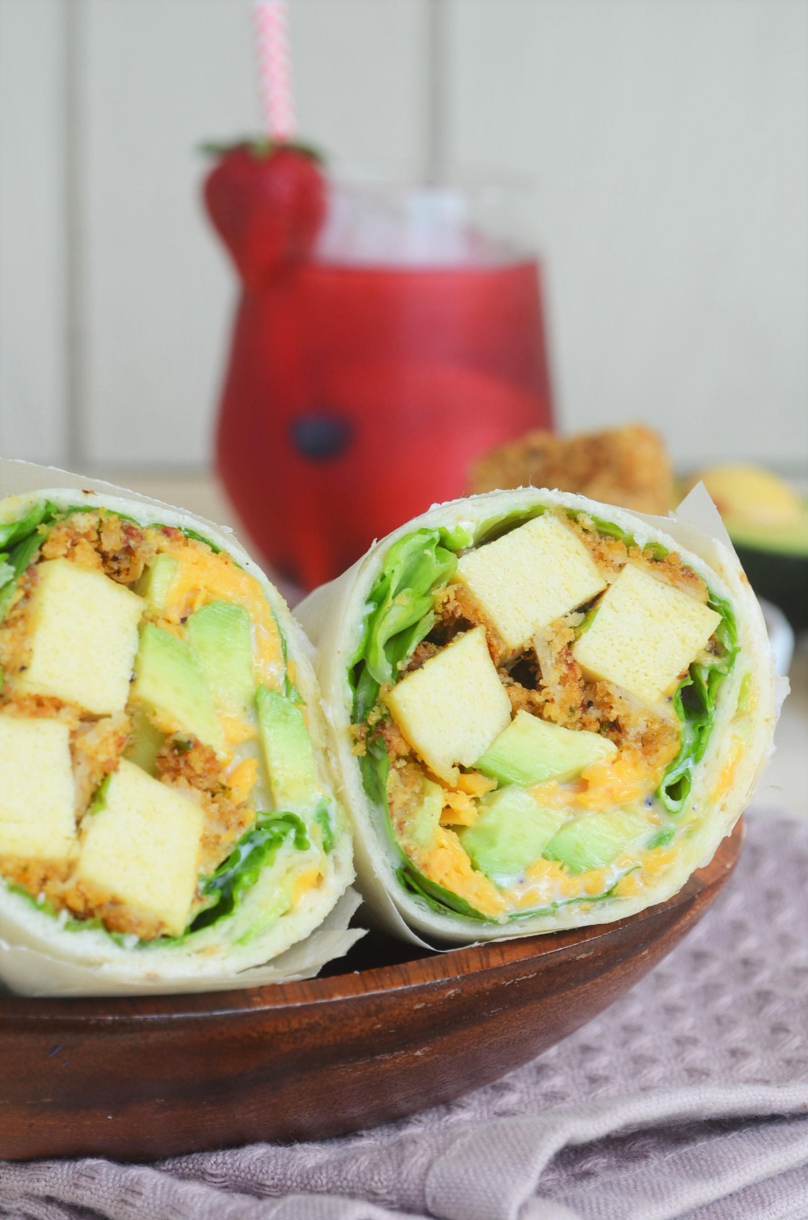 Small Batch Crsipy Tofu Wrap