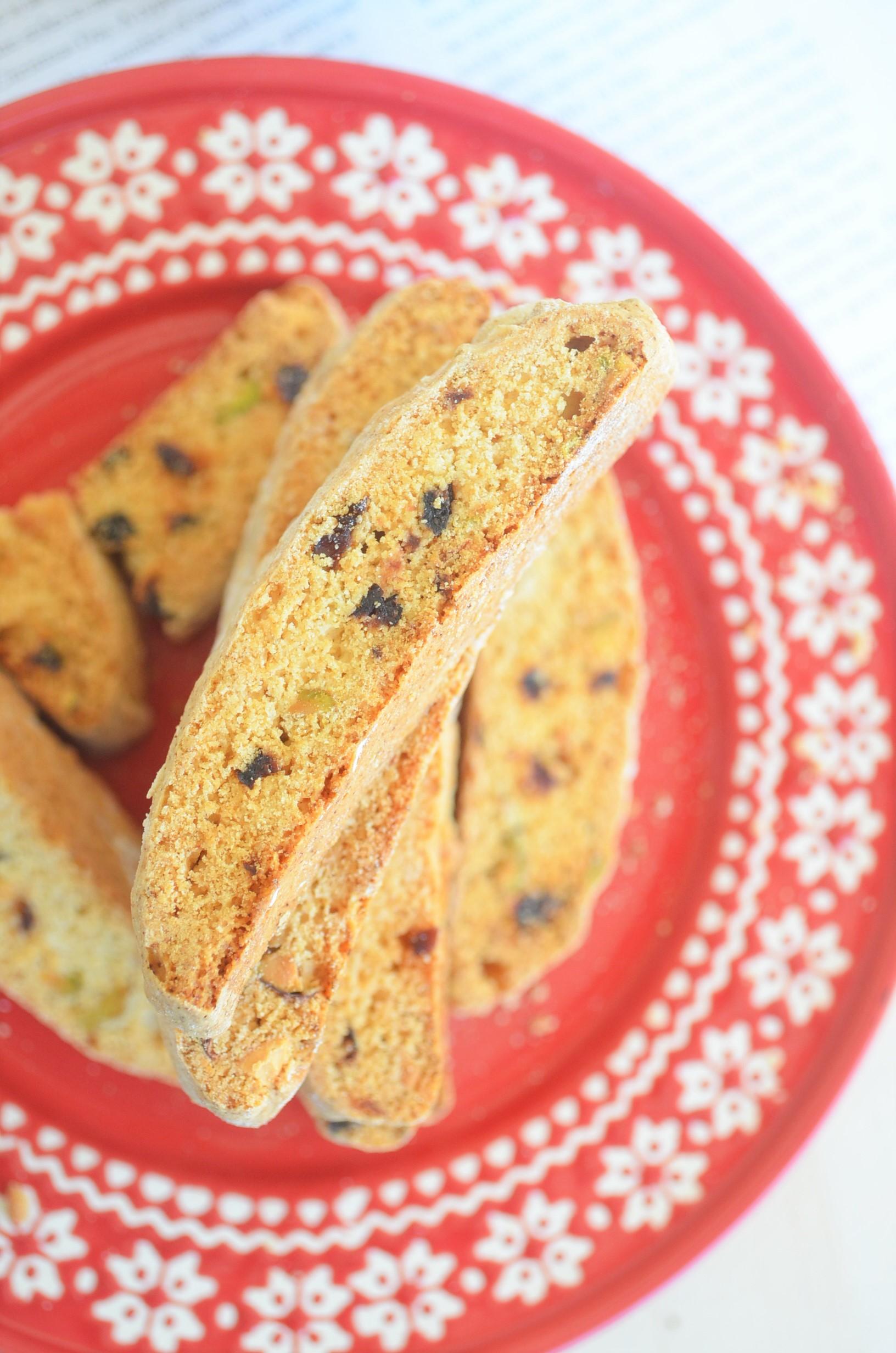 Small Batch Pistachio and Cranberry Biscotti
