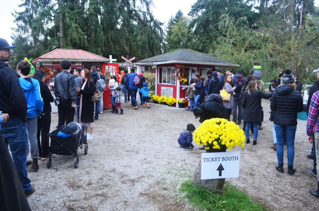 Ticket Booth for the Pumpkin Patch in Richmond BC