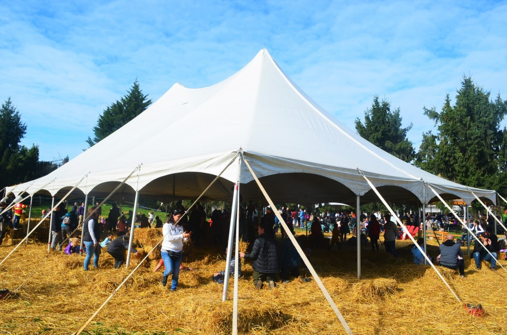 Hay Tent at the Pumpkin Patch in Richmond BC