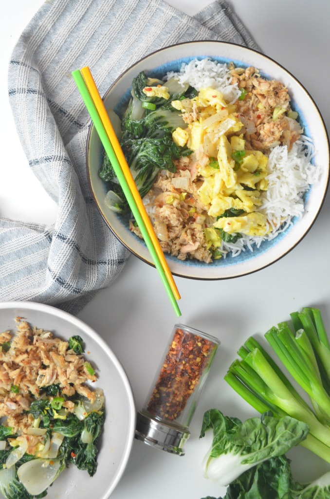 Tuna and Bokchoy Rice Bowl