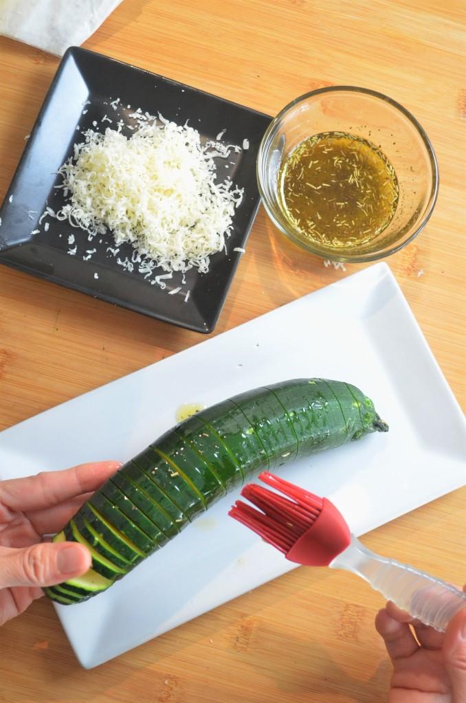 How to Make Hasselback Zucchini