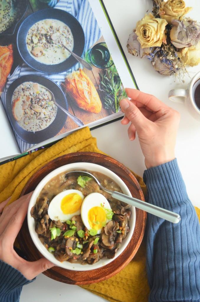 Mushroom Porridge Oatmeal