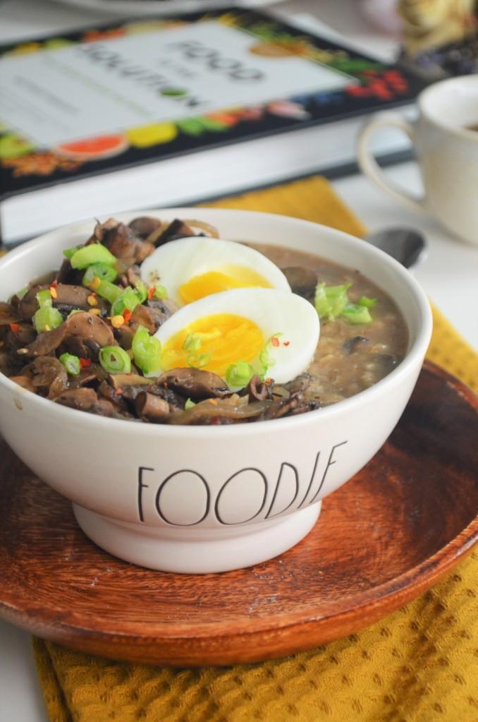 Mushroom and Egg Oatmeal