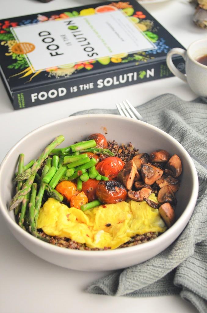 Savory Quinoa and Mushroom Breakfast Bowl