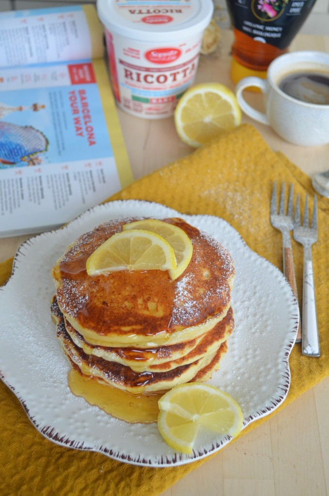 Small Batch Lemon Ricotta Pancake