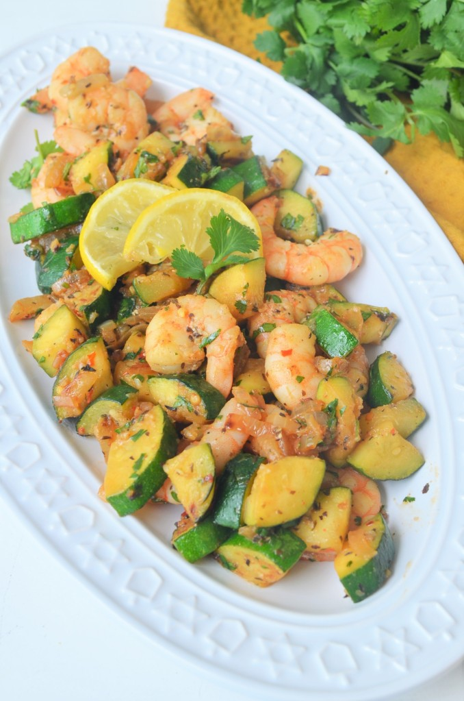 Shrimp and Zucchini Stir-Fry