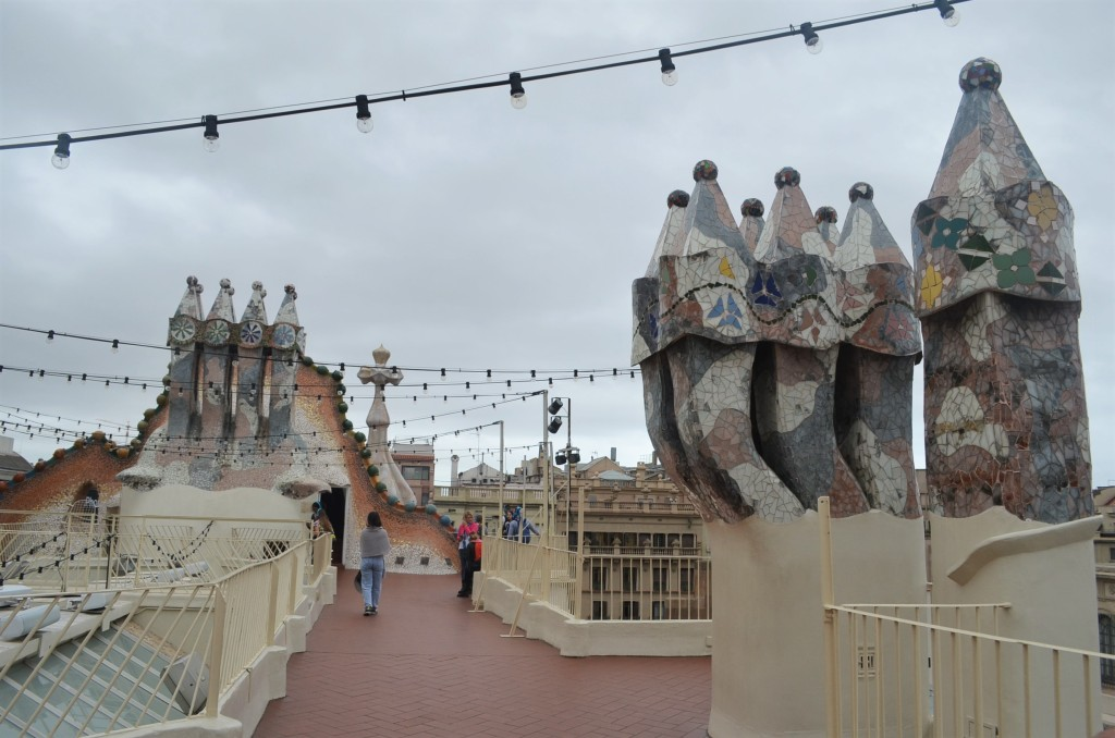The Roof Top Casa Battlo  Barcelona Spain