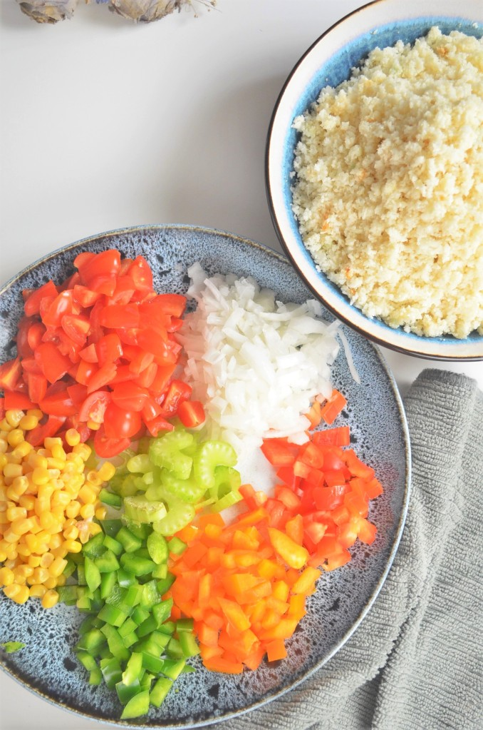 Ingredients for Mexican Cauliflower Fried Rice