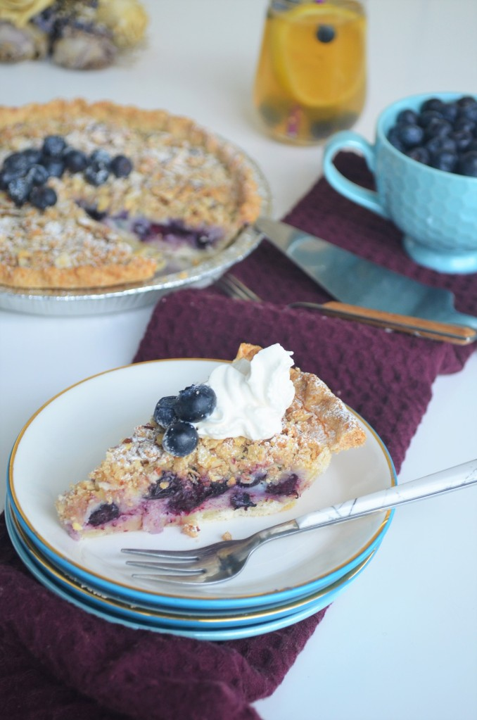 Blueberry Custard Crumble Pie By SweetnSpicyLiving