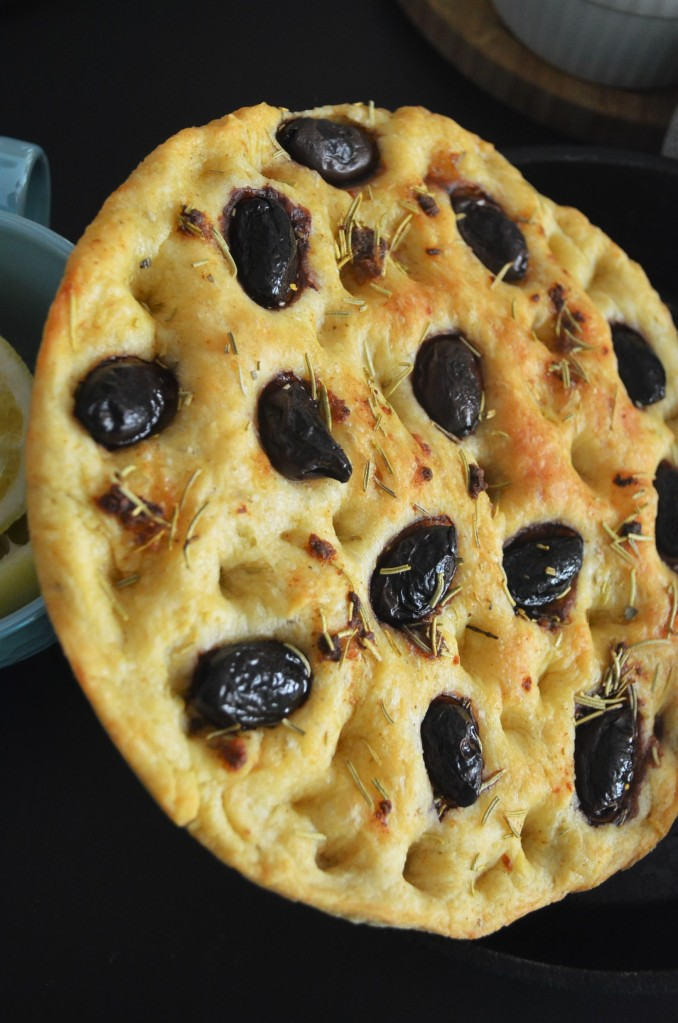How to Make Kalamata Foccacia Bread By SweetNSpicyLiving