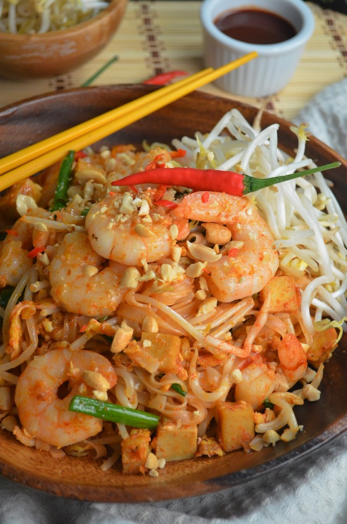Shrimp and Tofu Pad Thai By SweetNSpicyLiving