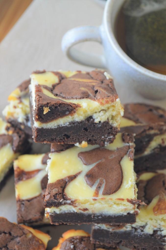 Small Batch Cream Cheese Fudge Brownie