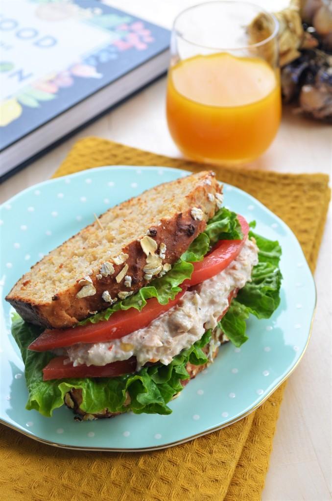 Tuna Sandwich using No Yeast Bread