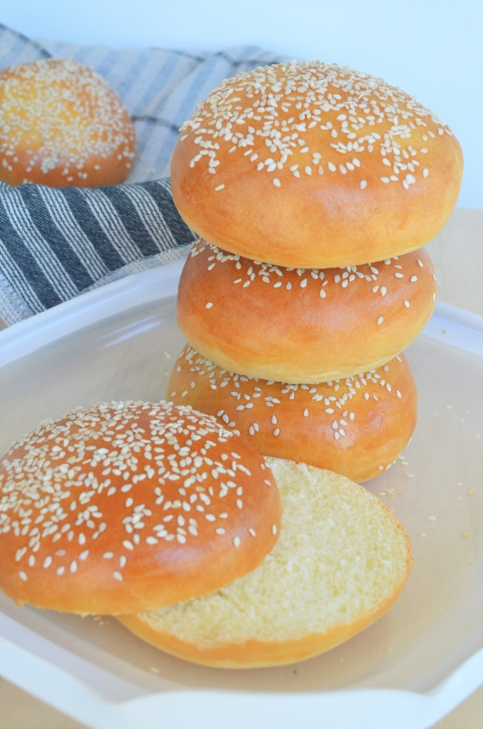 Small batch Brioche Hamburger Buns By SweetNSpicyLiving