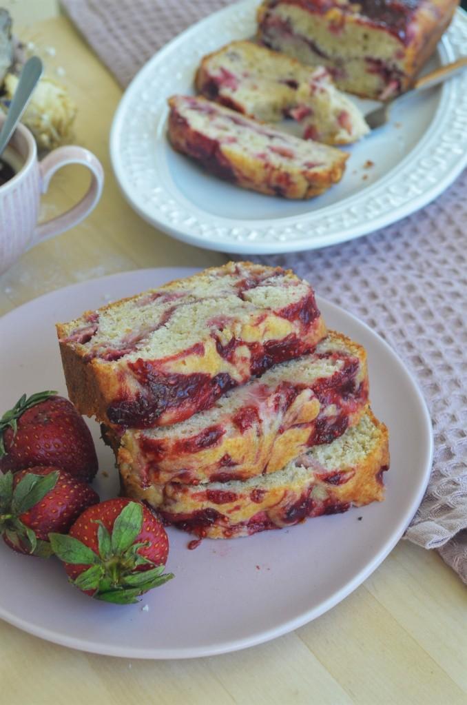Soft Strawberry Banana Bread