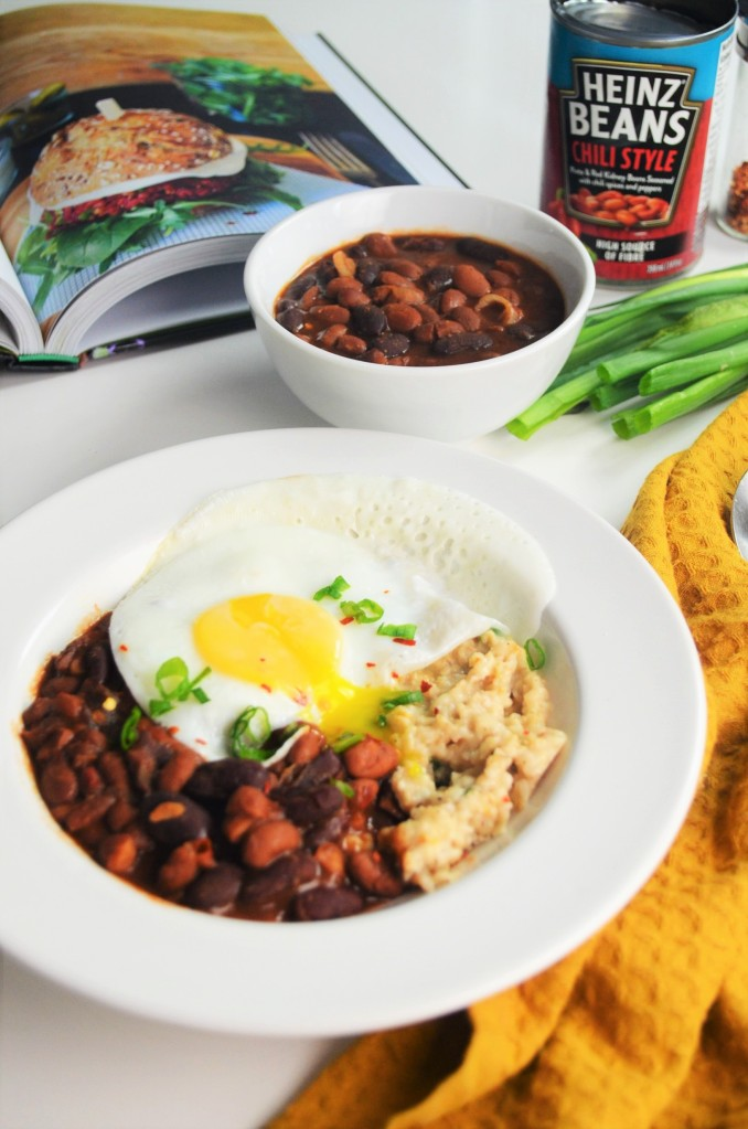 Beans and Egg Savory Oatmeal