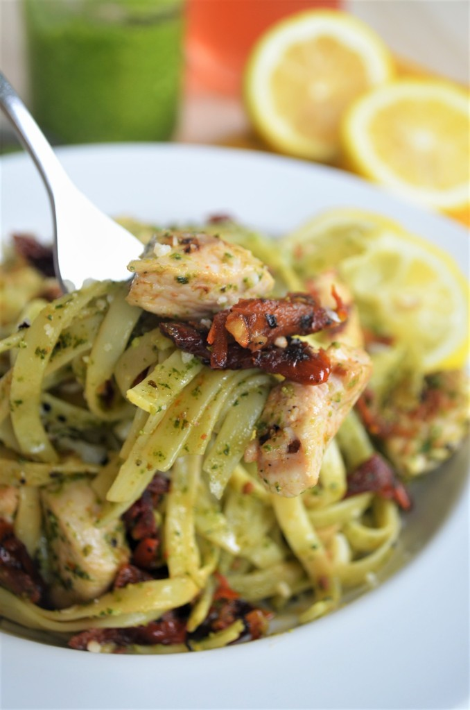 Small Batch Chicken Pesto Pasta