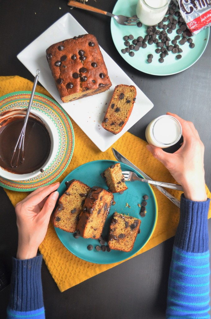 How to Make  Chickpea Chocollate Chip Banana Bread By SweetNSpicyLiving