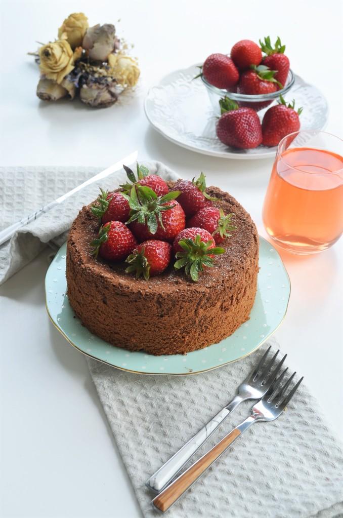 Cocoa Chocolate Chiffon Cake