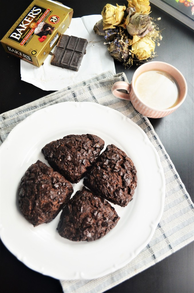Small Batch Triple Chocolate Scones By SweetNSpicyLiving
