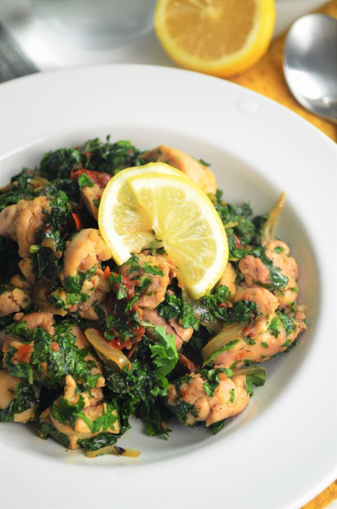 Chicken  with Kale and Sundried Tomato