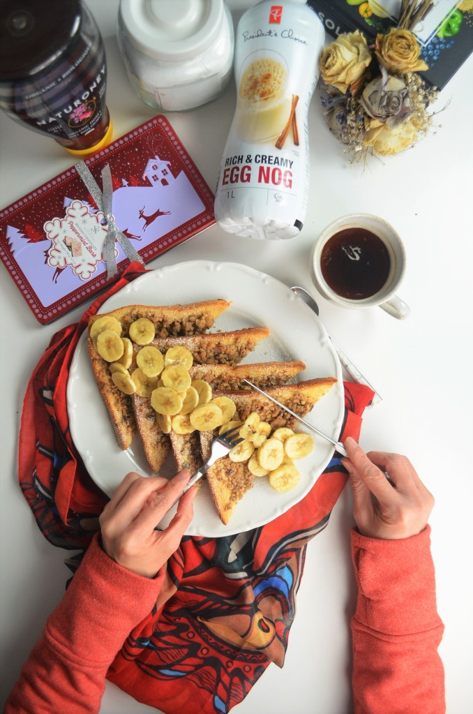 EggNog Pecan French Toast