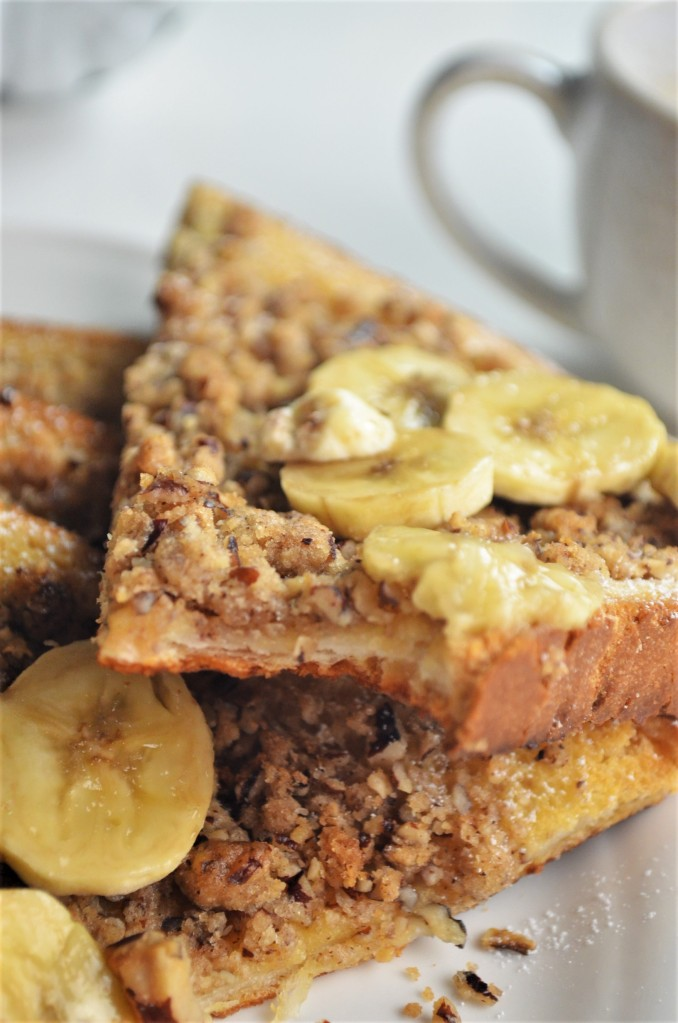 EggNog Pecan Crumble French Toast