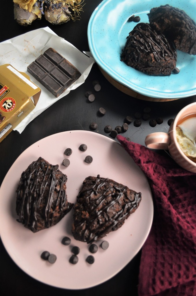 Chocolate Scones for Two