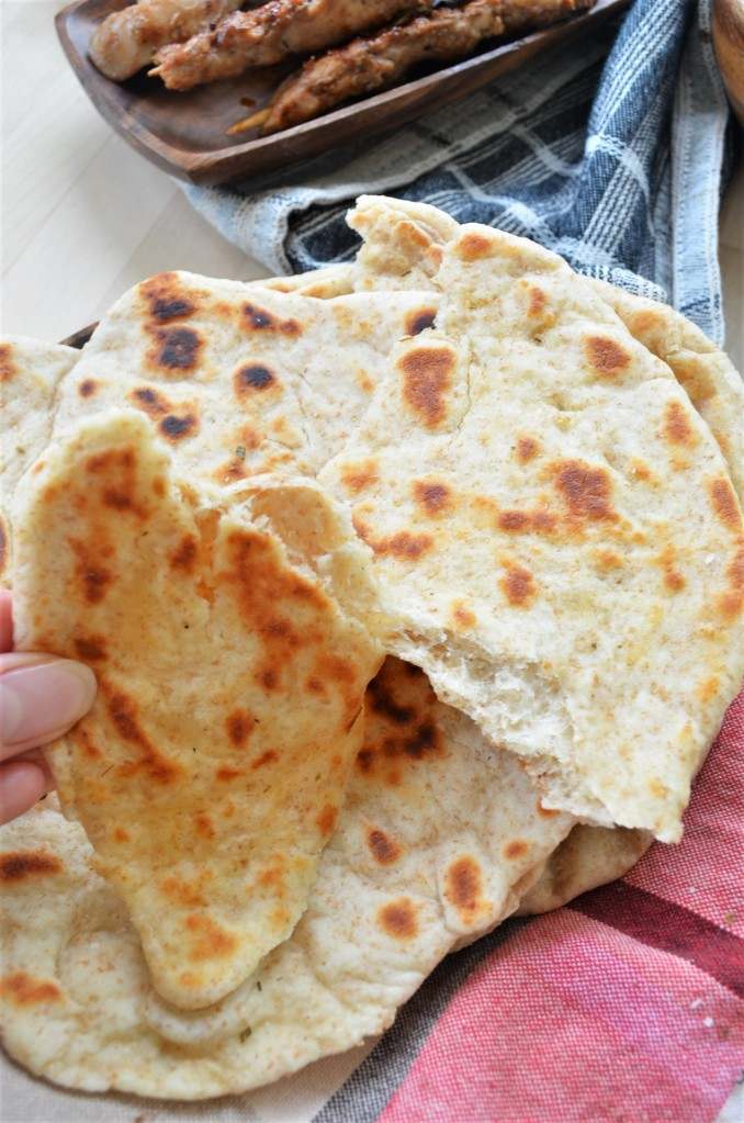 No Yeast Whole Wheat Naan Bread