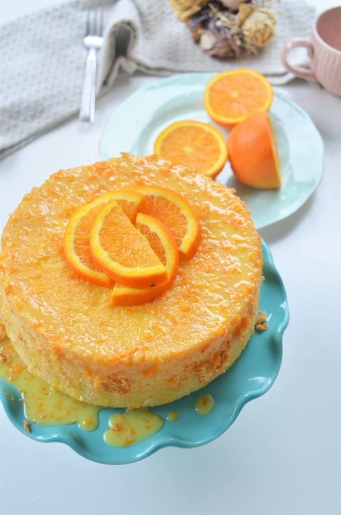 Easy Small Batch Orange Chiffon Cake By SweetNSpicyLiving