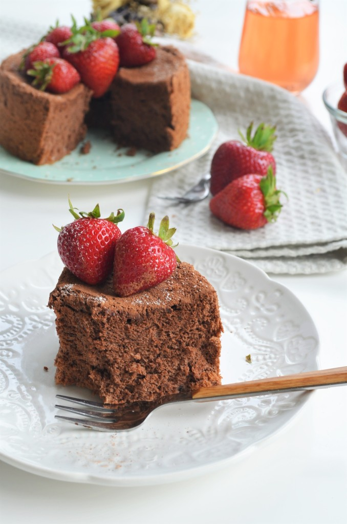 Small Batch Cocoa Chiffon Cake