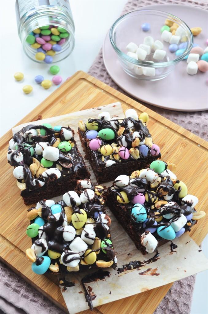 Easter Rocky Road Brownie