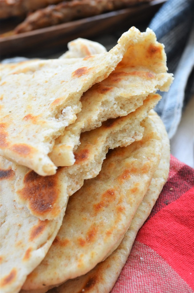 Small Batch No Yeast Whole Wheat Naan Bread